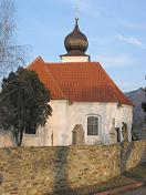 Věž kostela sv. Jiří ve Vraném nad Vltavou